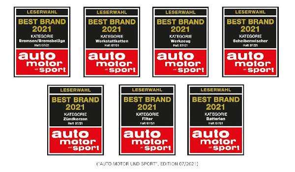 """Bosch distinguida como """"Best Brand"""" 2021 em sete categorias diferentes de produtos"""