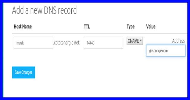 Cara membuat subdomain blogspot dengan domain sendiri.
