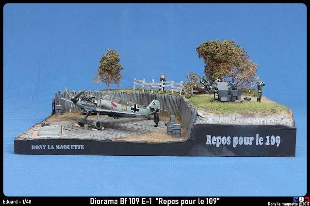 "Diorama ""Repos pour le 109"" Bf109 E-1"