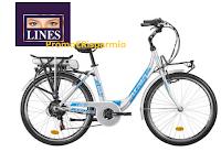 Logo Con Lines puoi vincere una bicicletta elettrica: in palio 5 Bici elettriche Atala Donna E-Urban