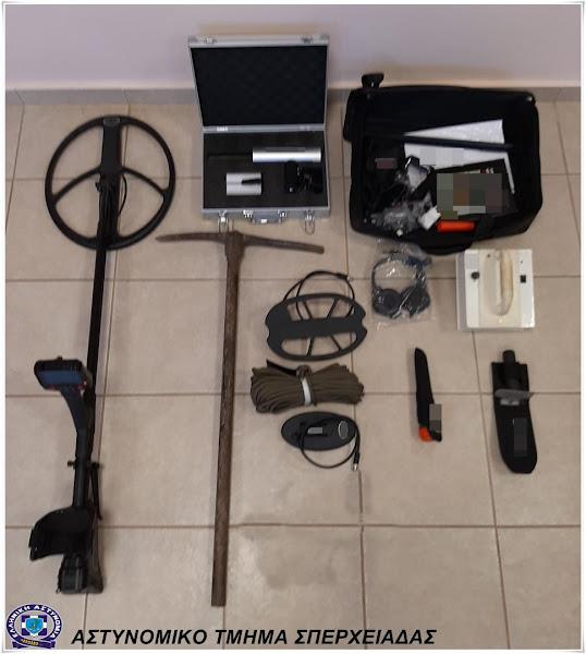Φθιώτιδα: Συνελήφθησαν τέσσερα άτομα κατηγορούμενοι για παράβαση νομοθεσίας περί προστασίας αρχαιοτήτων