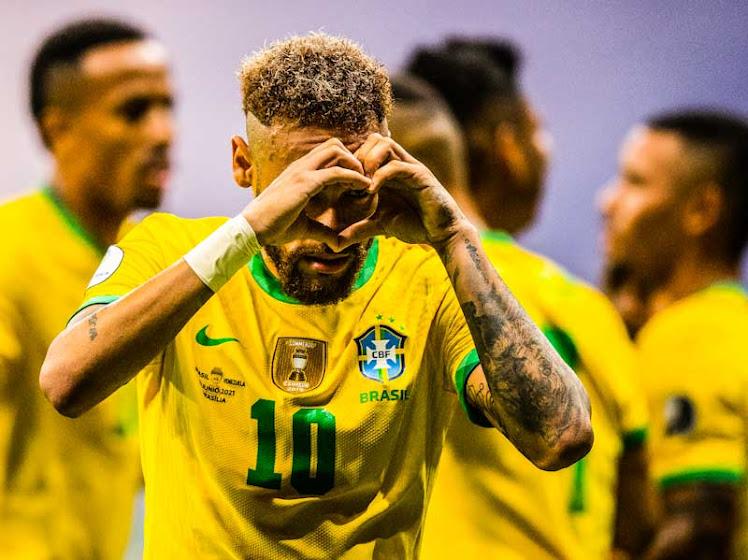 Neymar no jogo Brasil e Venezuela pela primeira rodada da Copa América 2021