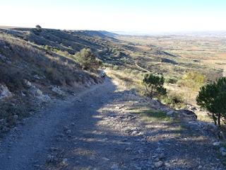 Corto tramo a pie a la salida de Guadalajara