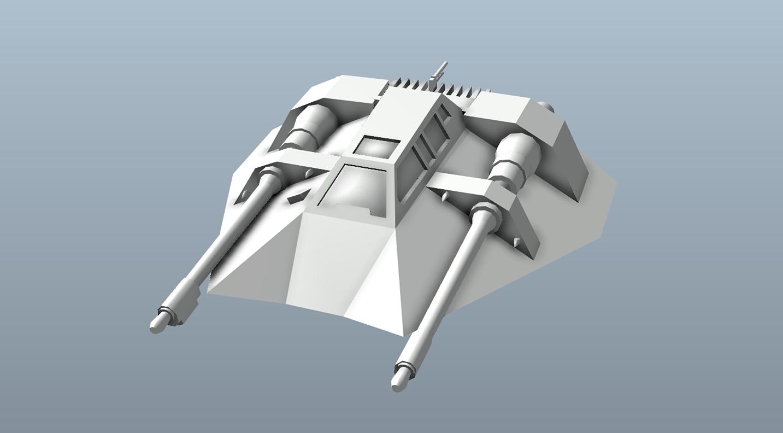 Big Star Wars OBJ Giveaway - Snowspeeder 3d model