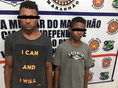 Dois menores são apreendidos com arma de fogo em Vargem Grande