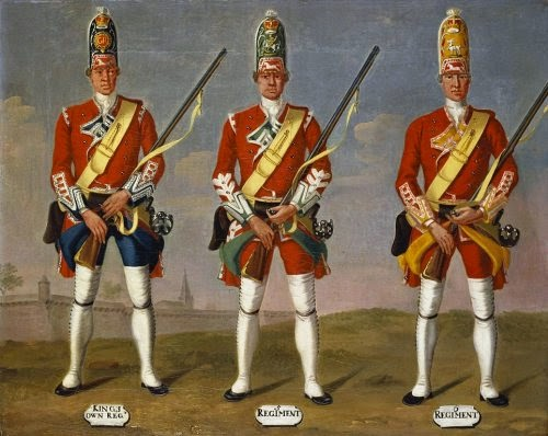 4th King's Own, 5th and 6th Regiments of Foot, Grenadiers, 1751