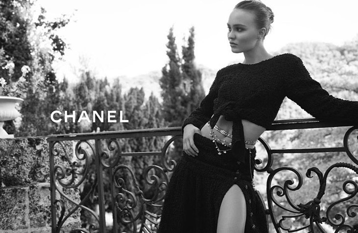 Chanel taps Lily-Rose Depp for cruise 2021 campaign.