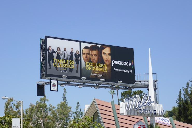 Peacock TV launch billboard