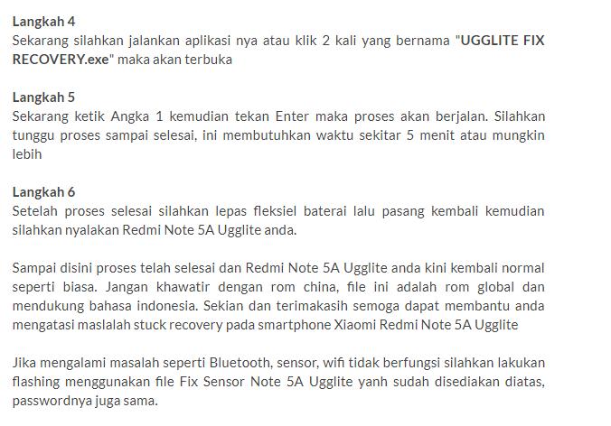 Cara Mengatasi Xiaomi Redmi Note 5A Stuck Recovery