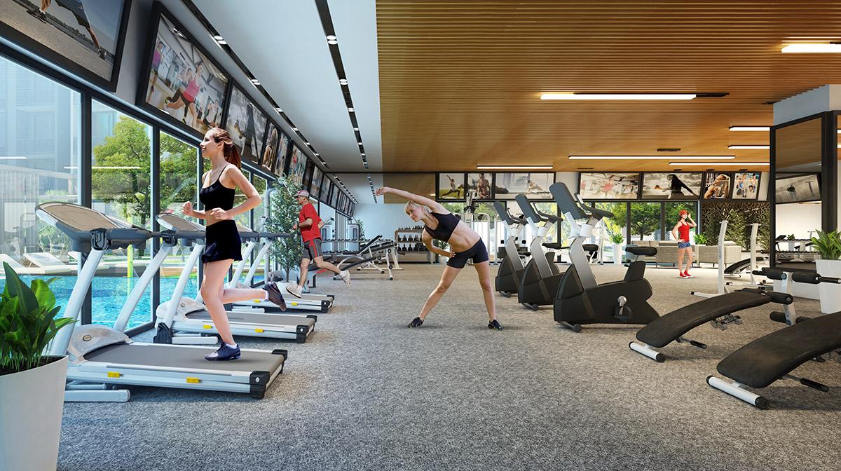Phòng tập Gym - Yoga hiện đại tại chung cư Vincity Tây Mỗ