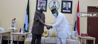 Governor Ifeanyi Of Enugu Welcomes Pastor Adeboye [PHOTOS]