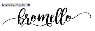 Bromello Regular