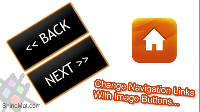 Change newer, older and home link with images