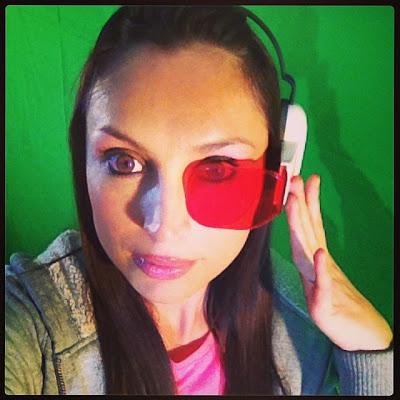 Giorgia Cosplay con lente de Super Guerrero de Bola de Dragón.