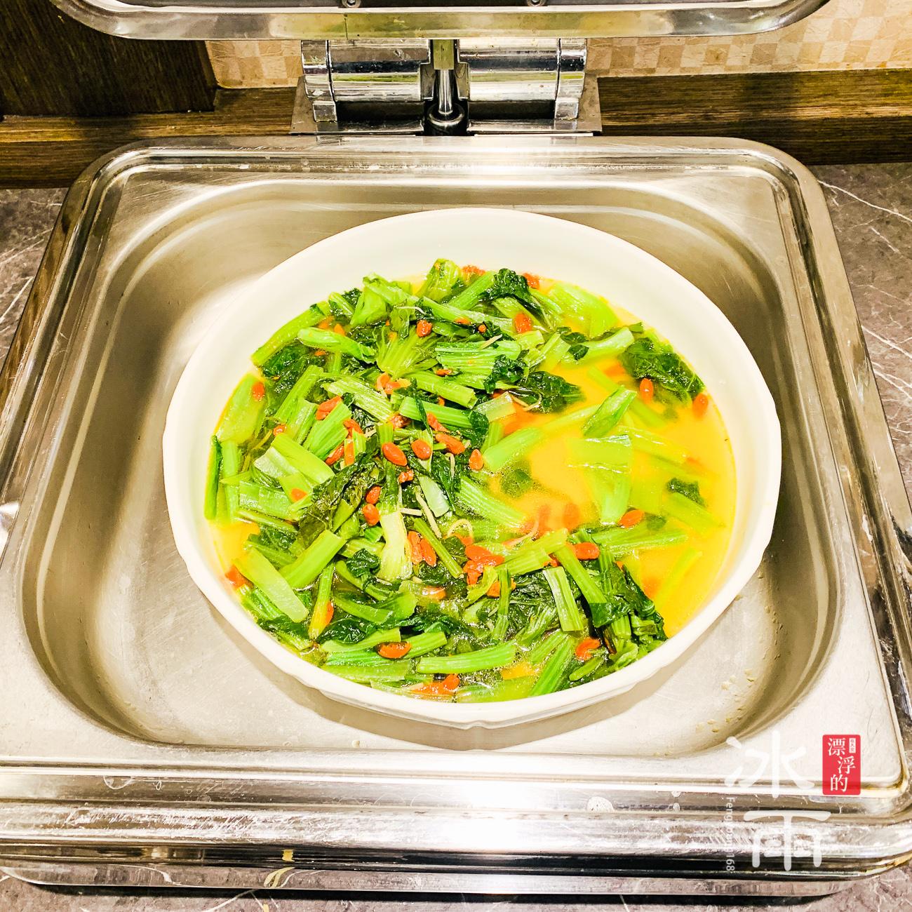 川湯春天溫泉飯店德陽館 早餐 炒青菜