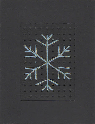 Stitched Snowflake Christmas card by welaughindoors