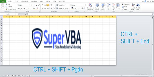 Menyembunyikan Kolom dan Baris Tidak Terpakai di Microsoft office Excel