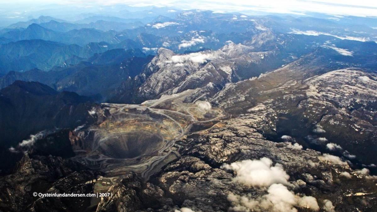 foto aerial Tembagapura