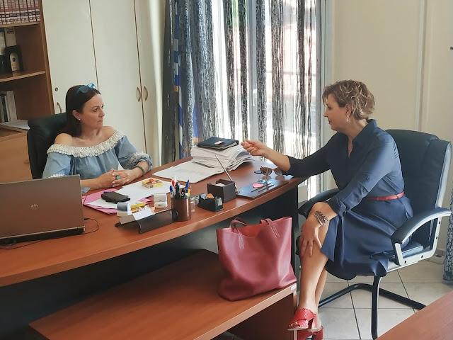 Συνάντηση Όλγας Γεροβασίλη με τη δήμαρχο Ν. Σκουφά, Ροζίνα Βαβέτση