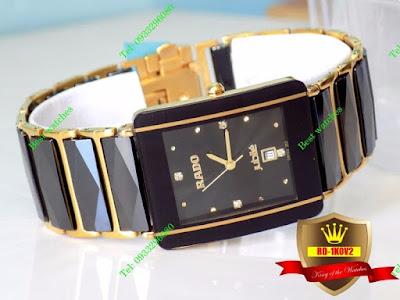 đồng hồ nam mặt vuông, đồng hồ nam mặt chữ nhật RD 1K0V2