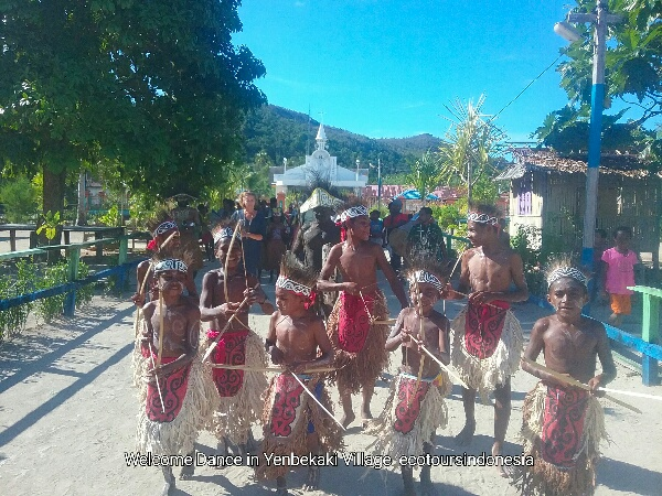 Welcome Dance in Waigeo island