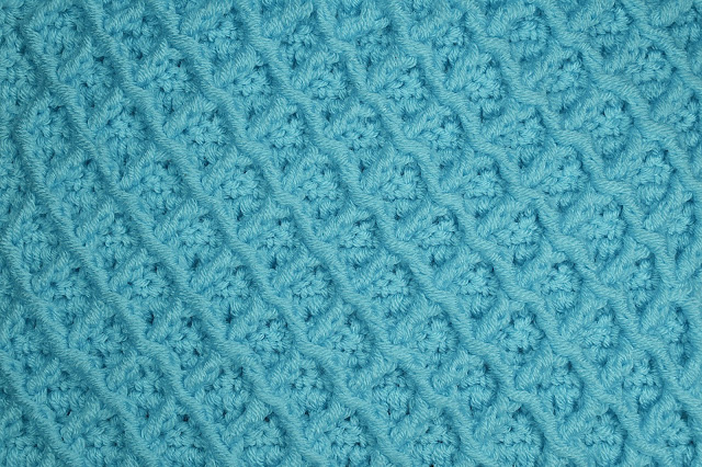 3-Crochet Imagen Puntada de rombos a crochet especial a para jarseys y cobijas por Majovel Crochet