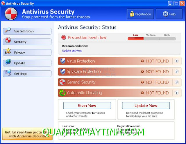 Antivirus security và Internet security