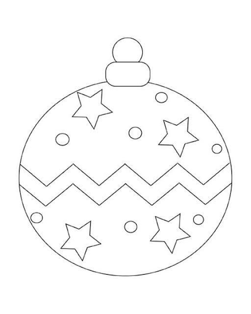 раскрась новогодний шар. Color new year ball