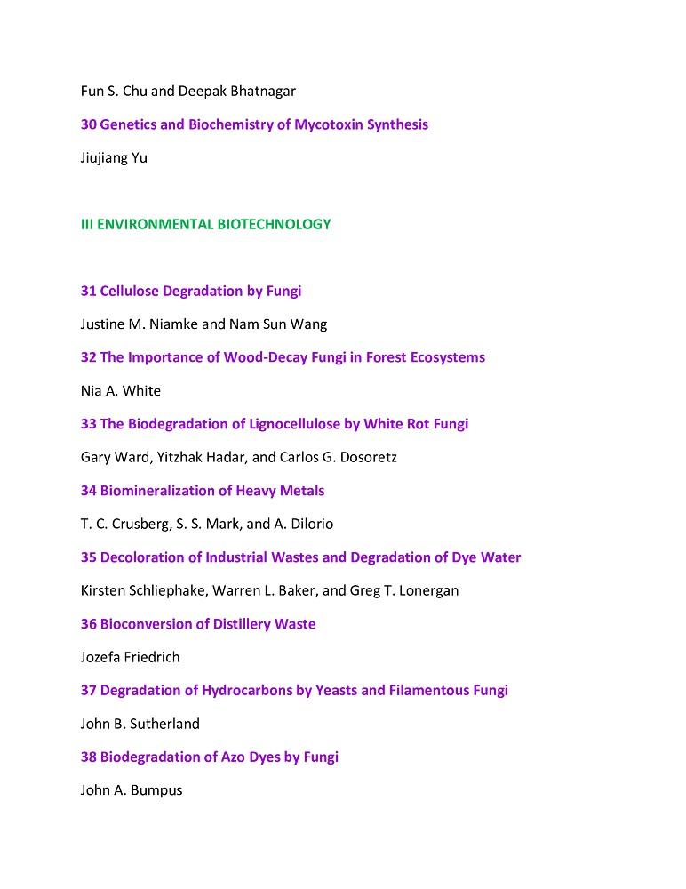 FungaI BiotechnoIogy