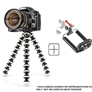 CEUTA® Gorilla Tripod  13 Inch Height with Heavy Clip for Camera, DSLR and Smartphones