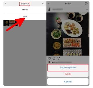 Cara Mengarsipkan & Membatalkan Pengarsipan postingan di Instagram