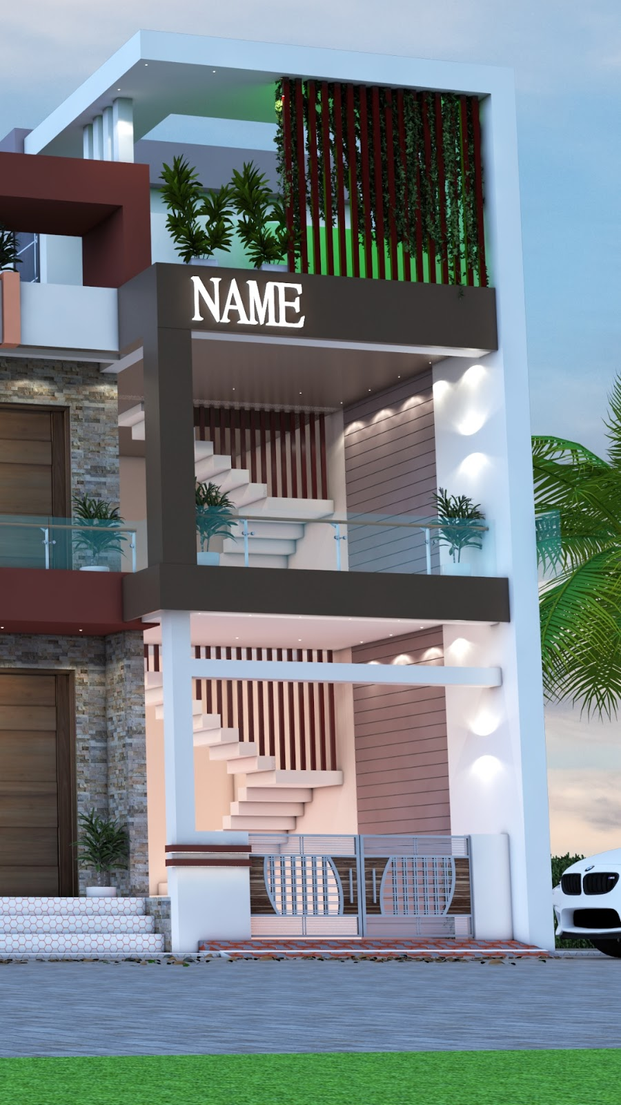 3 bedroom 26 x 40 east face hous plan with 3d front ...