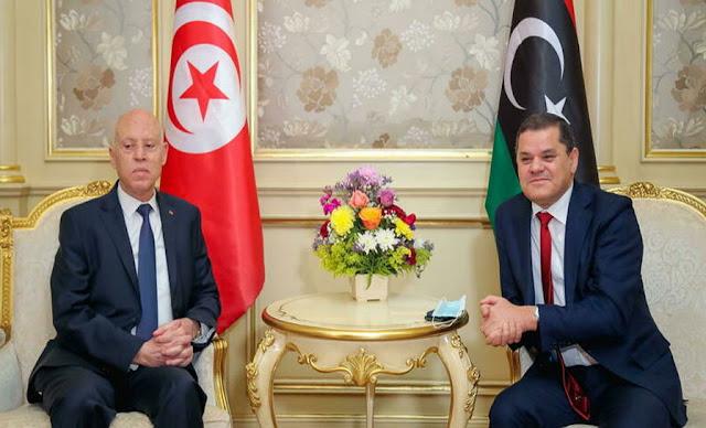 لدبيبة يصل تونس kais saied abdelhamid dabaiba
