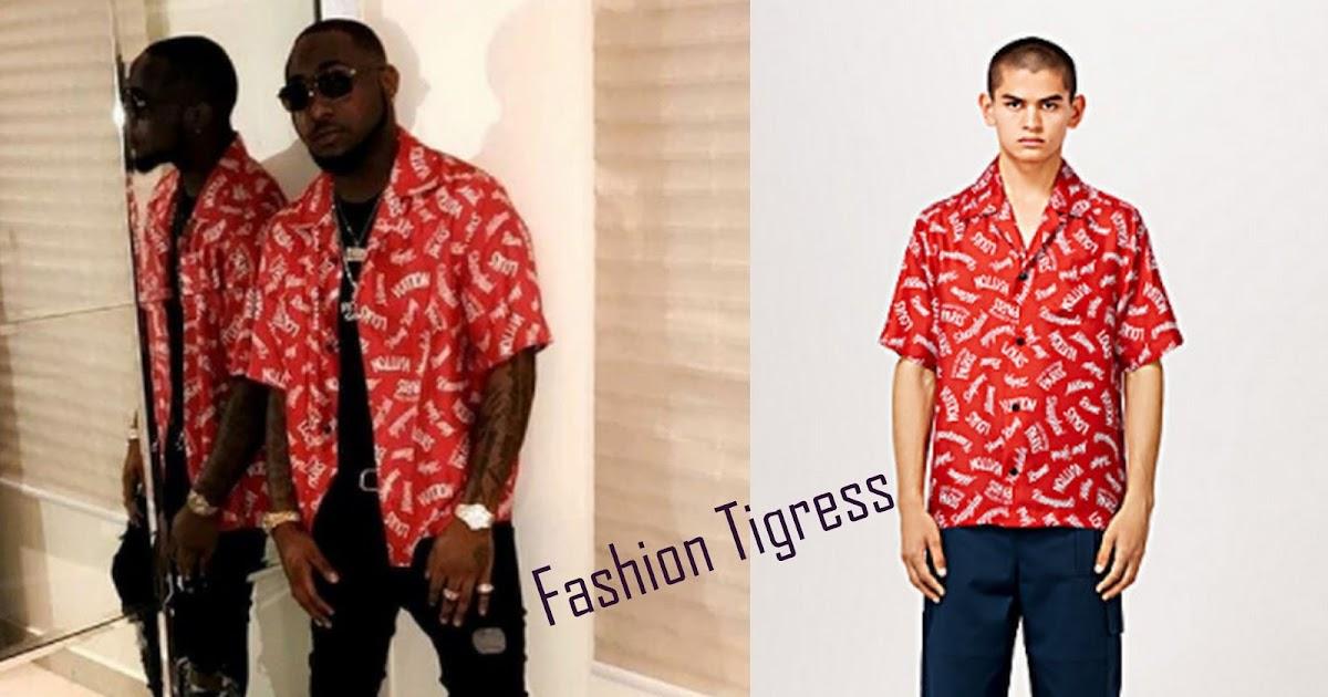 d703f5fe Stylish Bobo Alert: Davido Wears N337,000 Louis Vuitton Shirt