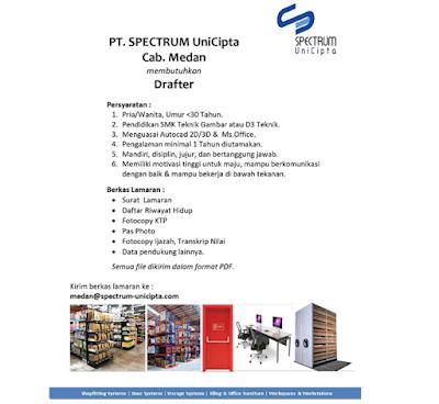 Lowngan kerja Terbaru SMK D3 November 2019 Drafter di PT Spectrum UniCipta