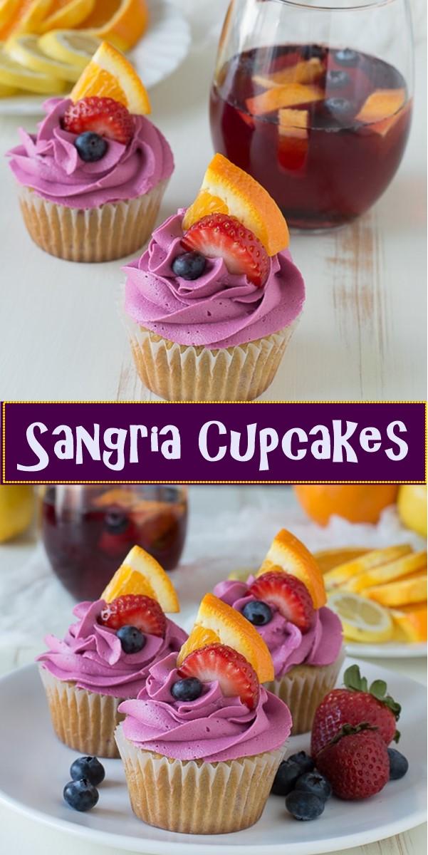 Sangria Cupcakes #cupcakerecipes