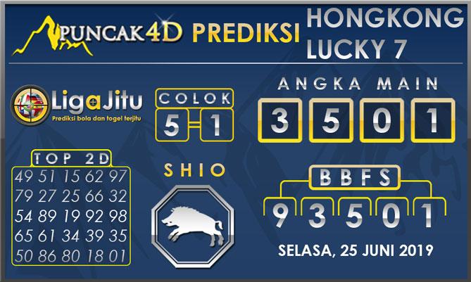 PREDIKSI TOGEL HONGKONG LUCKY7 PUNCAK4D 25 JUNI 2019