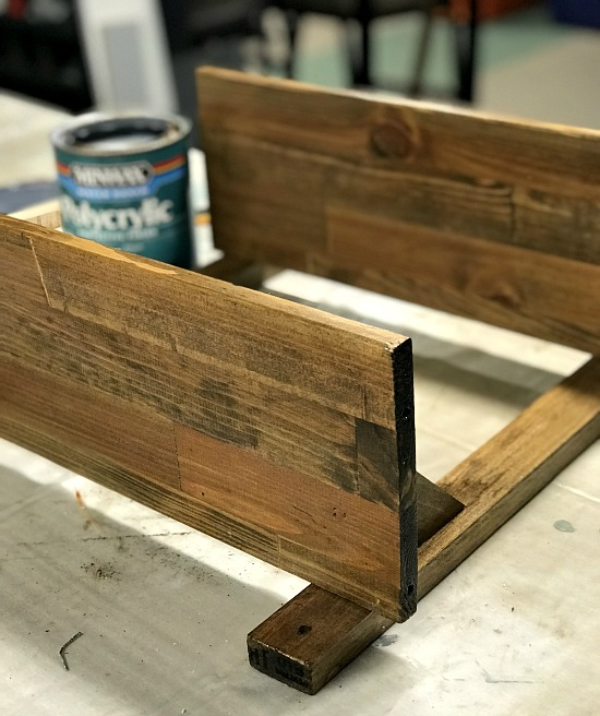 DIY Shelf pieces created from broken furniture