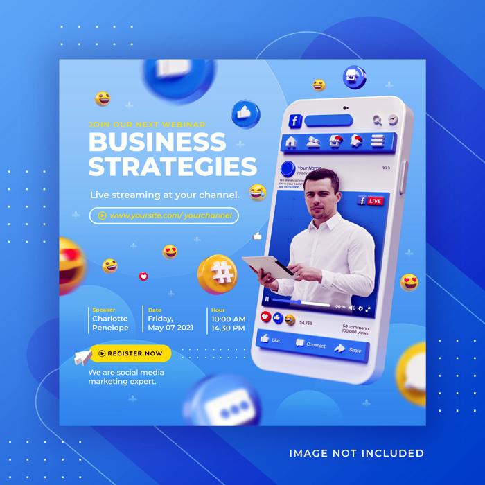 Facebook Live Streaming Business Workshop Social Media Post Instagram