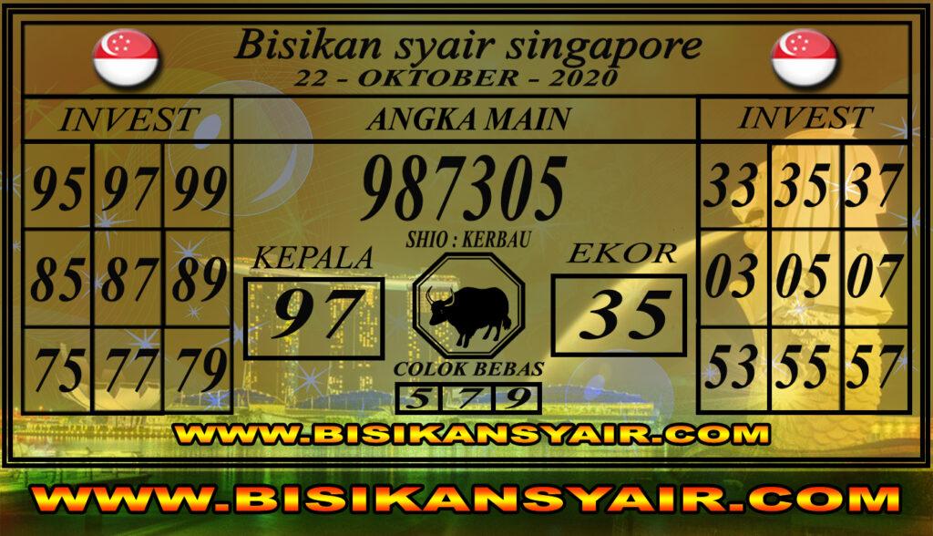 Kode syair Singapore Kamis 22 Oktober 2020 106