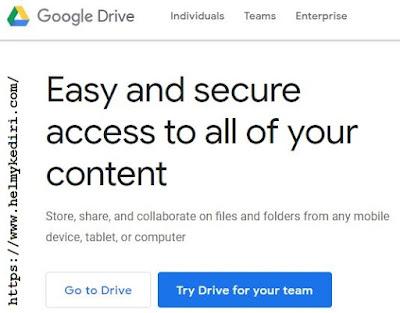 mengakses google drive
