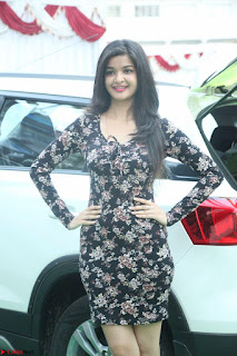 Kritika Telugu cinema Model in Short Flower Print Dress 074.JPG