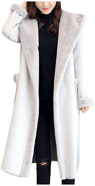 Women's Long Faux Fur Coats Jackets with Hood