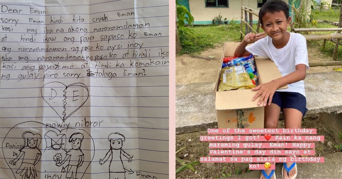 Grade 4 kid rejected by girl for being too thin, gets Valentine's Day gift from Heart Evangelista