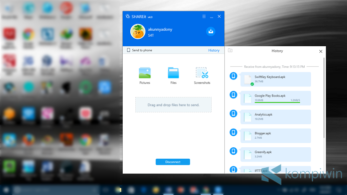 cara download shareit di laptop