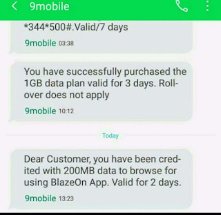 How to get free 400MB data from 9mobile(100% Working)