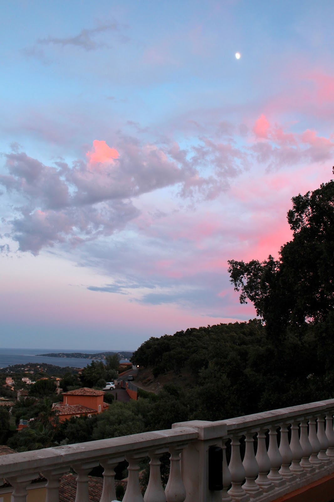 South of france saint maxime red sky
