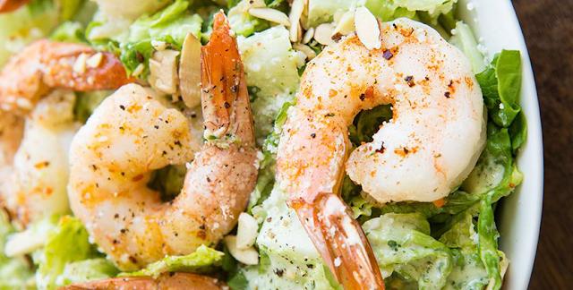 Roasted Shrimp Salad with Buttermilk-Cilantro Dressing