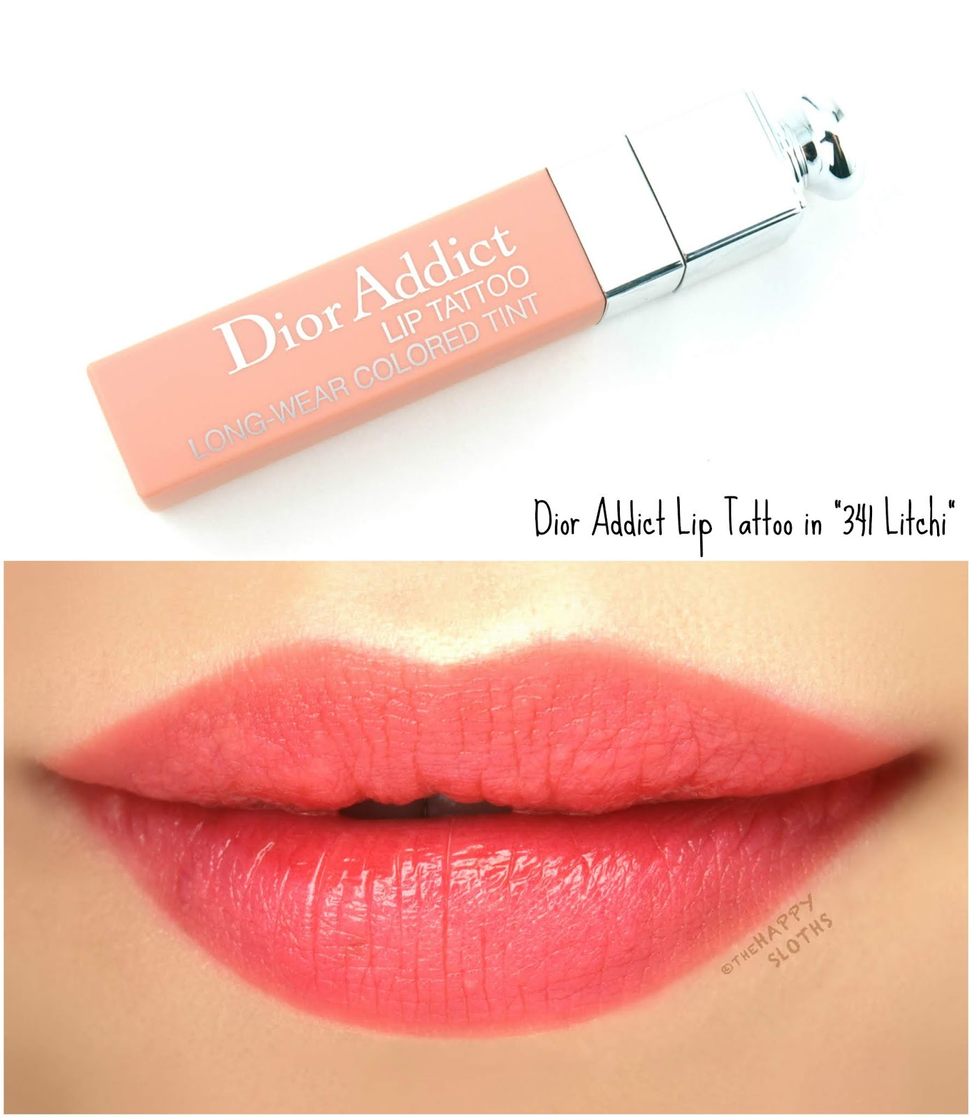 "Dior | Summer 2018 Dior Addict Lip Tattoo in ""341 Litchi"": Review and Swatches"