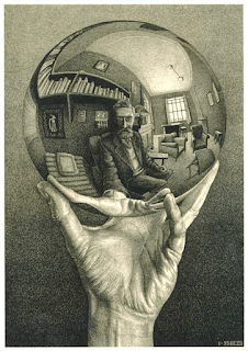 Escher - Crystal Ball, Source: Random Glenings